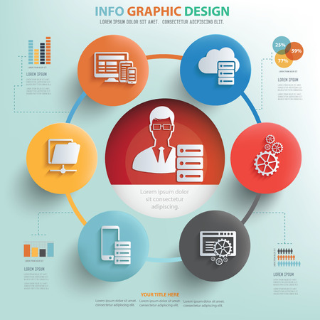 admin: Database admin and technology info graphic design, Business concept design.