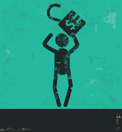 ve: Human resource design on green background,grunge ve
