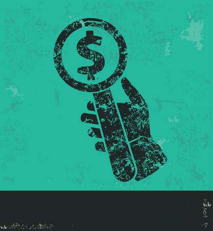 contend: Bid design on green background,grunge vector