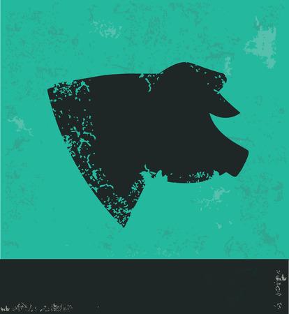 snoot: Pig design on green background,grunge vector