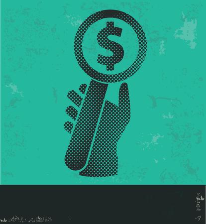 bid: Diseño de una oferta sobre fondo verde, vector del grunge
