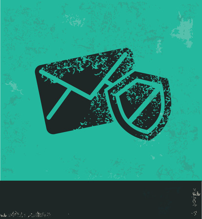 email security: Email security design on green background,grunge vector