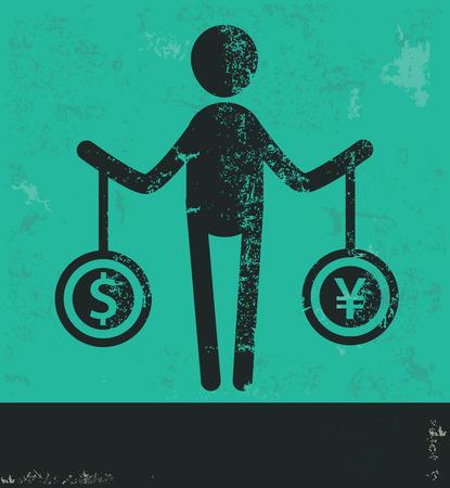 avarice: Human resource design on green background,grunge vector