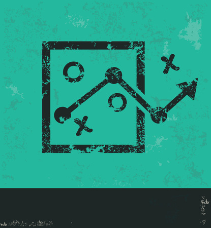 choose a path: Strategy design on green background,grunge vector
