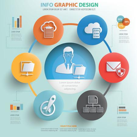 ADMIN: Data admin info graphic design, Business concept design.