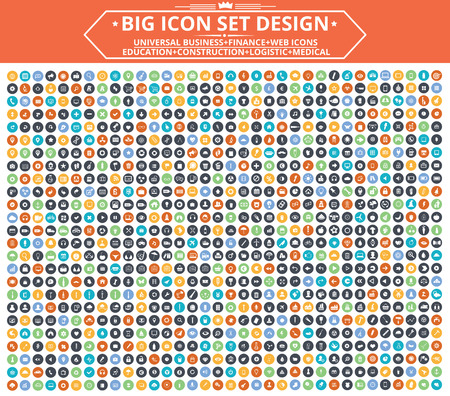 Big Icon set design,Universal,Website icon,Construction,Business,Finance,Medical icons,clean vector Zdjęcie Seryjne - 45103810