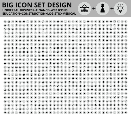 Big Icon set design,Universal,Website icon,Construction,Business,Finance,Medical icons,clean vector 免版税图像 - 45205604
