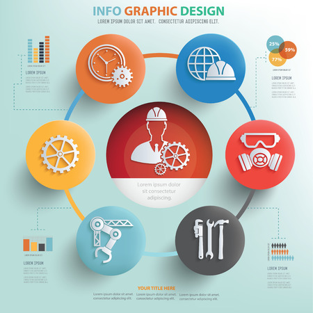 civil engineers: Engineer and industry info graphic design, Business concept design.