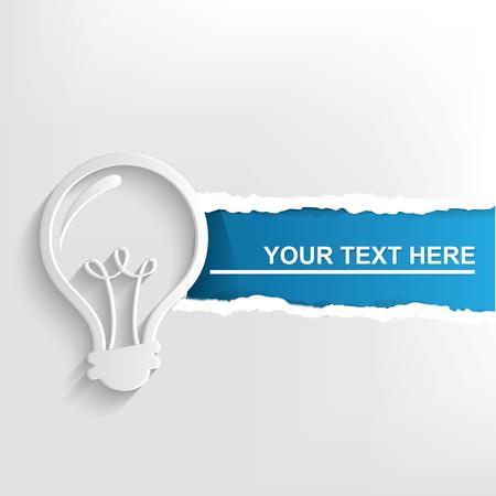 Light bulb banner design, clean vector