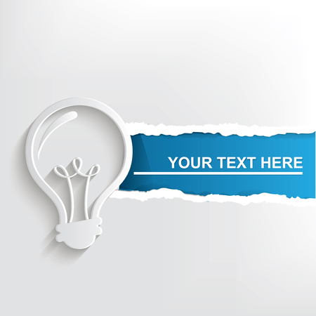 Light bulb banner design, clean vector