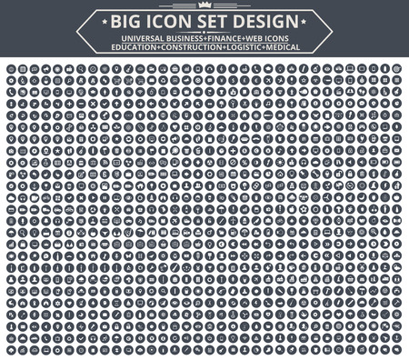 universal: Big Icon set design,Universal,Website icon,Construction,Business,Finance,Medical icons,clean vector