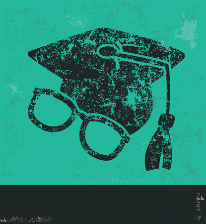 abstract academic: Education design on green background,grunge vector