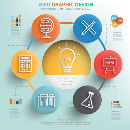 cams: Idea and Education info graphic design, Business concept design.