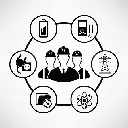 habiliment: Engineering and industry concept,Circle info graphic design,clean vector