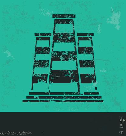 distillery: Factory industry design on green background,grunge vect Illustration