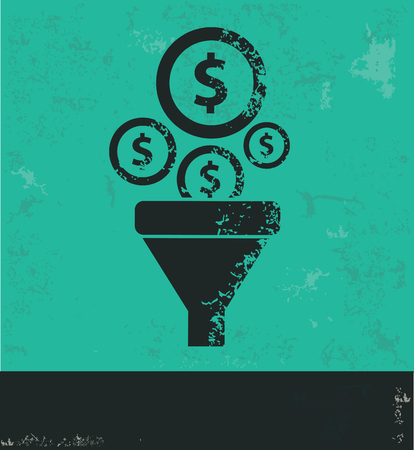 monet: Money filter design on green background