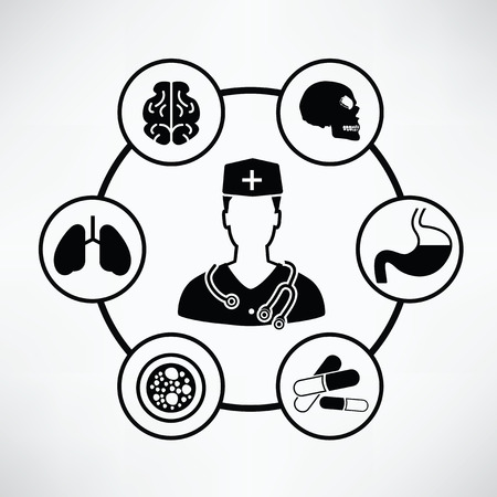 Medical concept with Circle info graphic design Illustration
