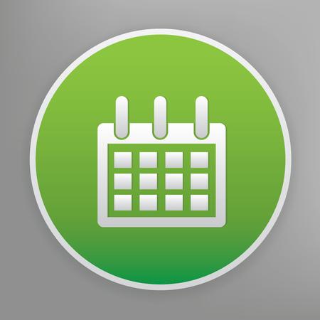 green button: Calendar design icon on green button