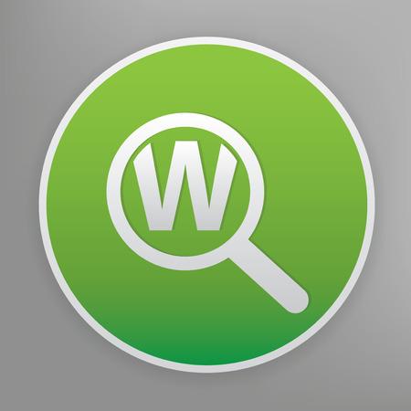 keyword: Keyword searching design icon on green button