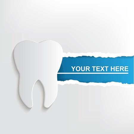 dientes sanos: Diseño Dientes bandera Vectores