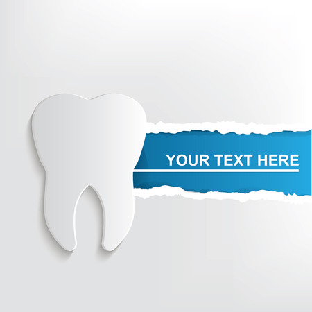 blue white: Teeth banner design