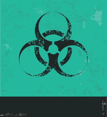bio hazard: Bio hazard design on green background Illustration