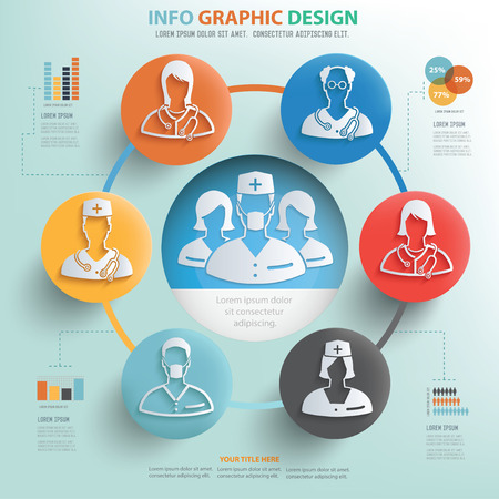 health information: Healthy care and medical concept info graphic design
