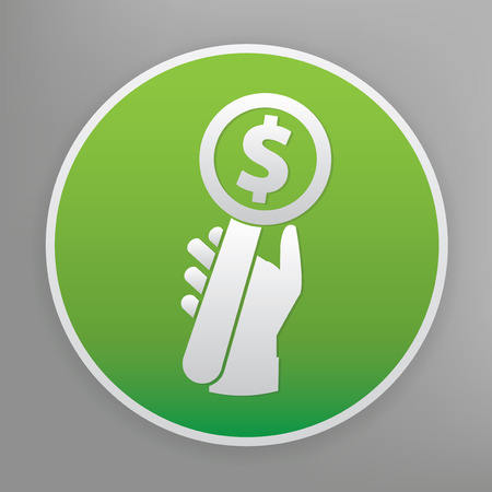 bid: Haga una oferta icono de diseño en botón verde Vectores