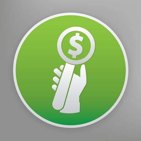 Bid design icon on green button