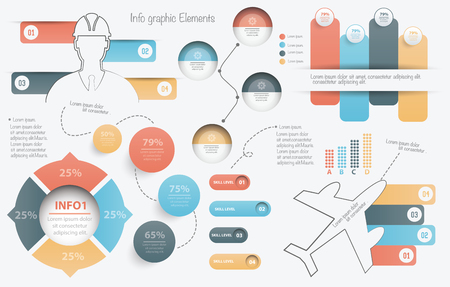 Info graphic elements design on clean background,clean vector