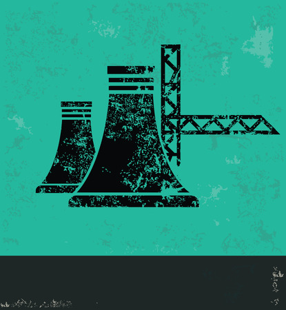 Industry design on green background,grunge vector