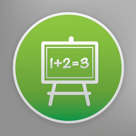 green button: Blackboard design icon on green button
