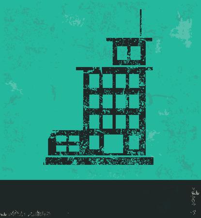 Real estate design on green background Illustration