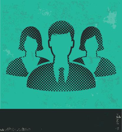 black professional: Human resource design on green background,grunge vector