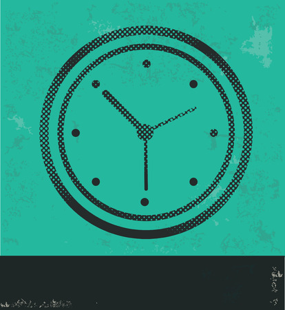 Clock design on green background