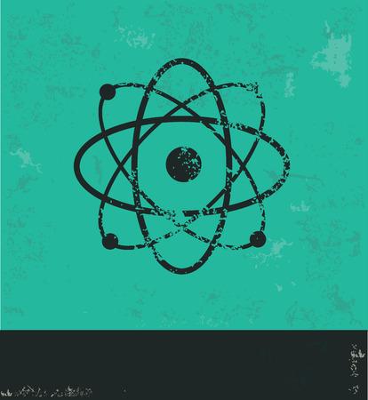fission: Atom design on green background