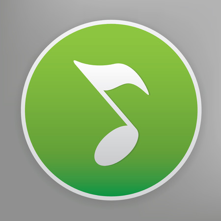 song: Song design icon on green button