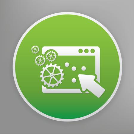 Click design icon on green button