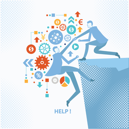 adviser: Help concept design,on clean background,business concept,clean vector