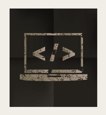metadata: Coding design on black background,vector Illustration