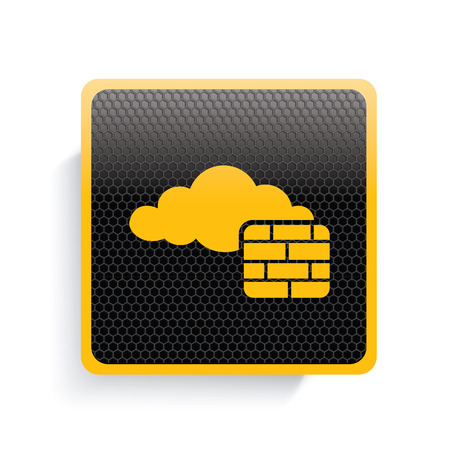 wall cloud: Cloud wall icon design,yellow version,clean vector