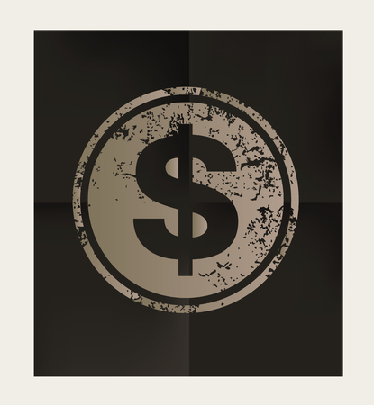 earn fast money: Money design on black background,vector