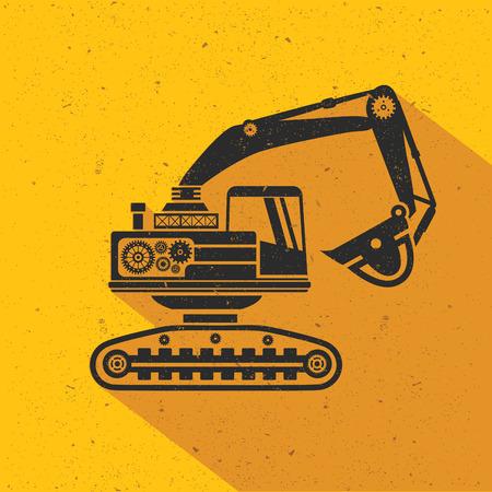 Truck design plat, la version jaune, vecteur