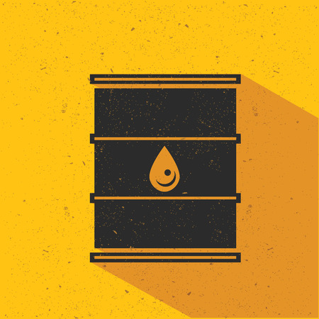 Oil flat design,yellow version,vector