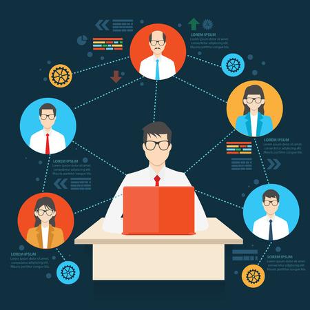 employee: Working employee design,info graphic design,clean vector