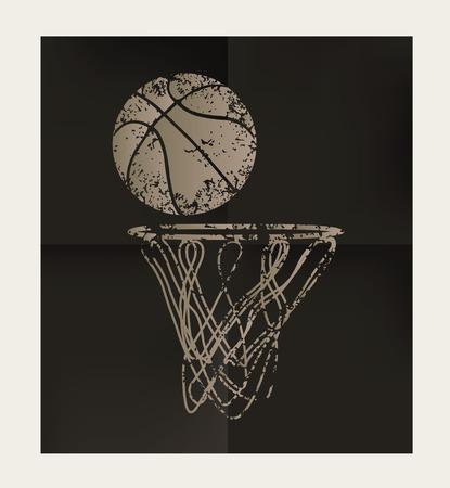 old paper background: Basketball design on old paper background,vector Illustration