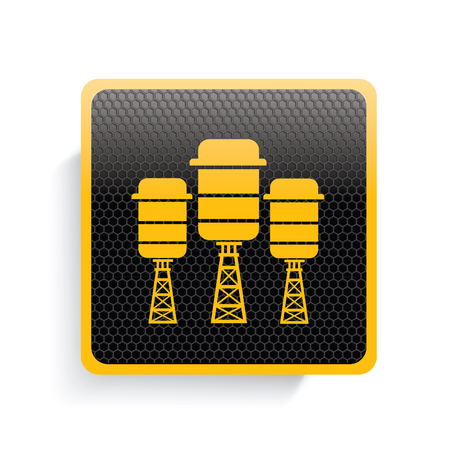 supplier: Industry icon design,yellow version,clean vector Illustration