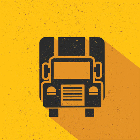 hauler: Truck flat design,vector