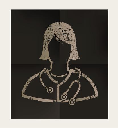 sick kind: Doctor design on black background,vector Illustration
