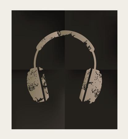 earphone: Earphone design on black background,vector Illustration